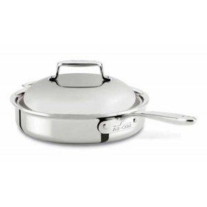 All Clad 2 Qt D7 Shallow Saute Pan With Domed Lid Saucepan Pan All Clad
