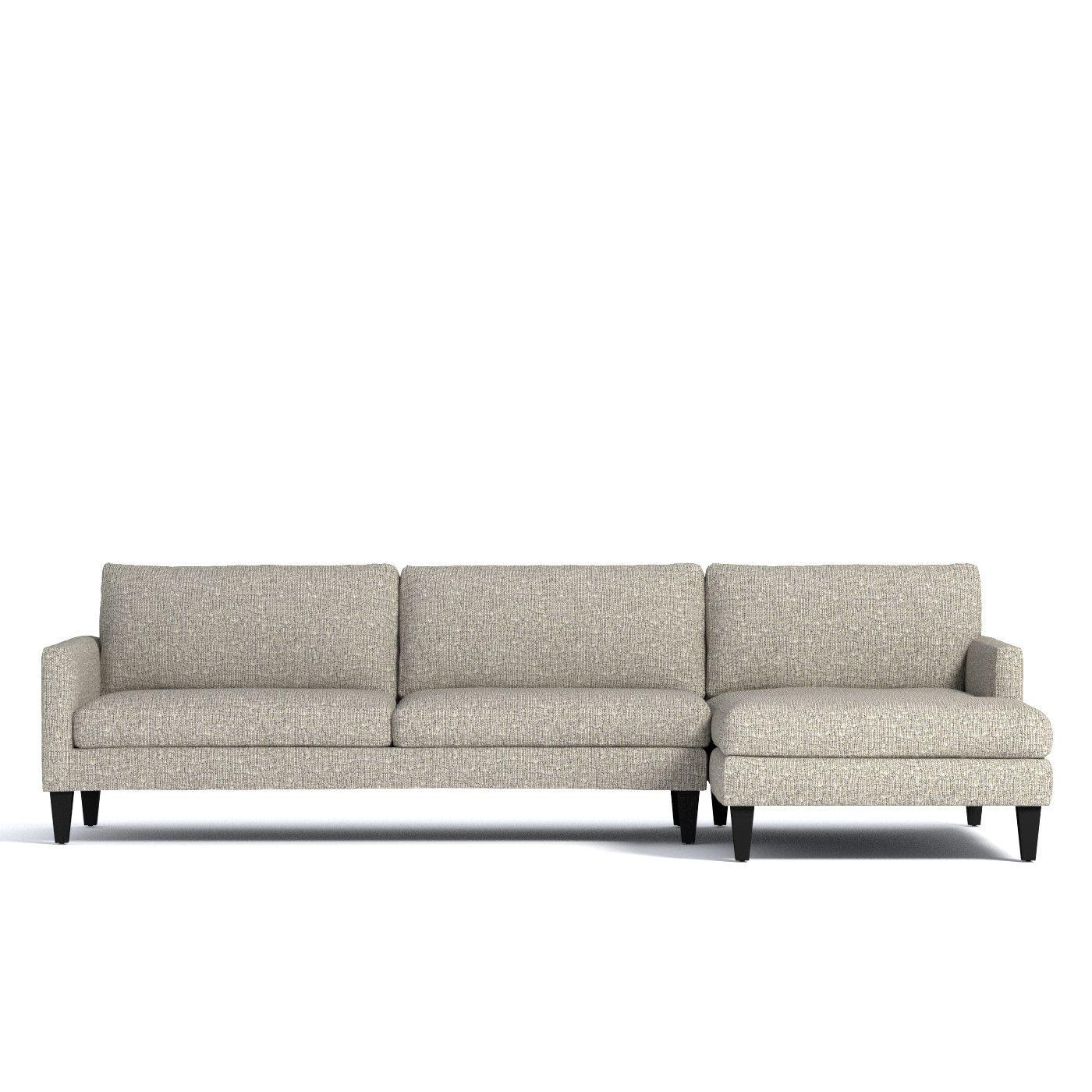 Formosa 2pc Sectional Sofa Leg Finish Pecan Configuration