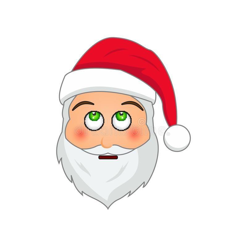 Emoticon Babbo Natale.Emoji Santa Claus Emoticon Di Vacanze Invernali Il Babbo Natale Nell Icona Deludente Di Emoji Illustrazione Di Stock Nel 2020 Emoji Emoticon Babbo Natale