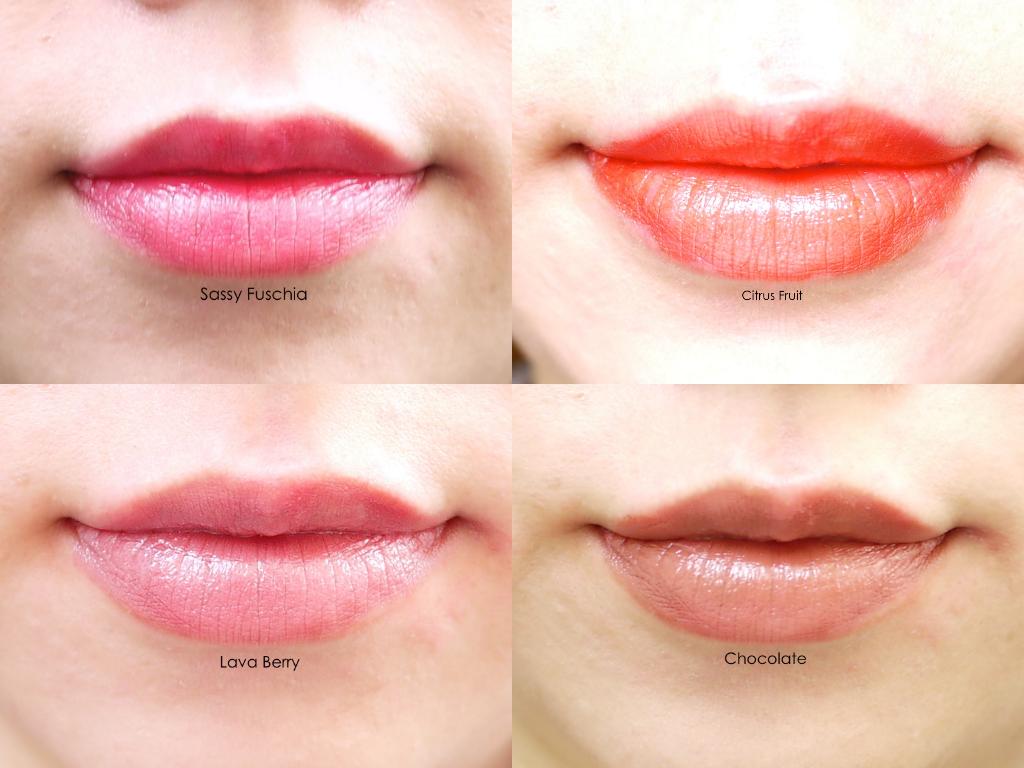 Colour zen review - Mary Kay True Dimensions Lipstick Citrus Fruit Sassy Fuschio Lava Berry Chocolate Lip Swatch Review