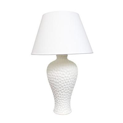 Simple Designs 19 5 In White Textured Stucco Curvy Ceramic Table Lamp Lt2004 Wht The Home Depot In 2021 Ceramic Table Lamps Table Lamp White Table Lamp