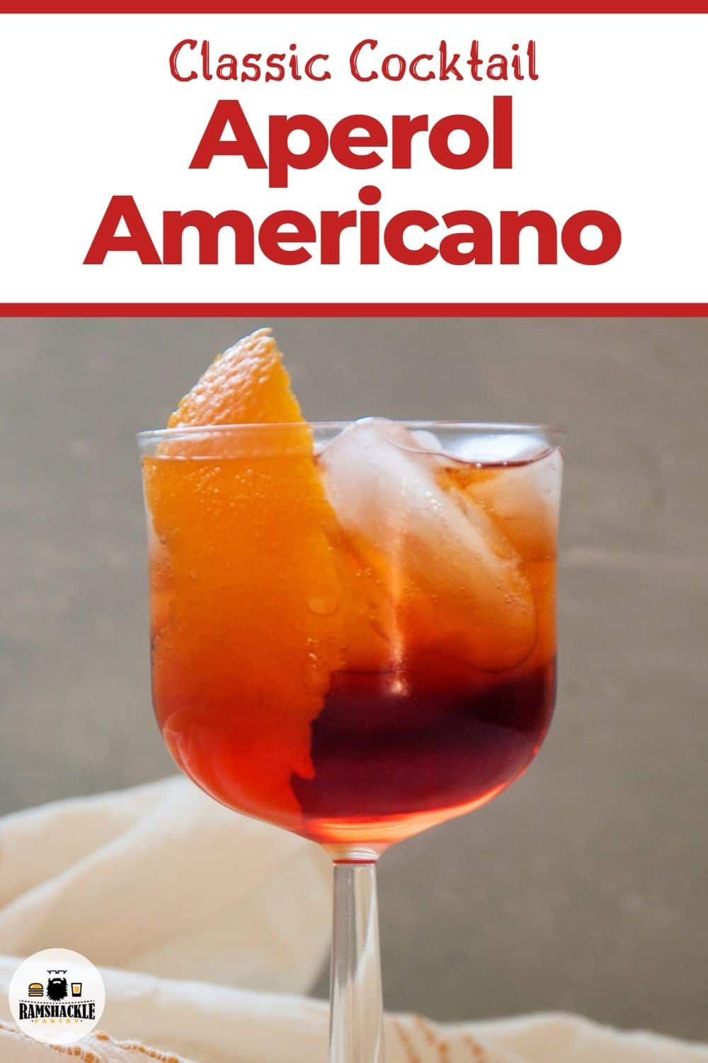 Aperol Americano Cocktail Americano Cocktail Recipe Aperol Cocktail Recipes