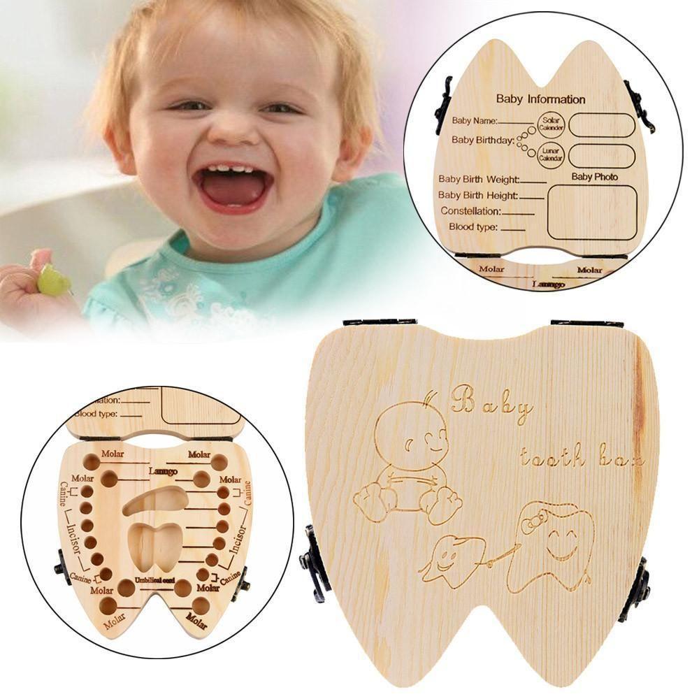 Baby Tooth Box Oragnizer Baby Album Tooth Case Baby Gift Kids Tooth Storage
