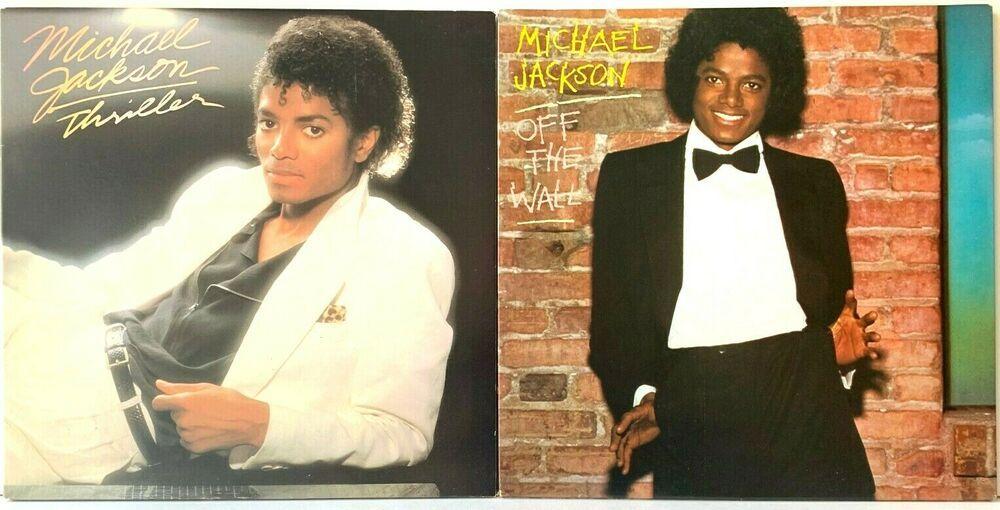 Michael Jackson Thriller Off The Wall Epic Original Lp Vinyl