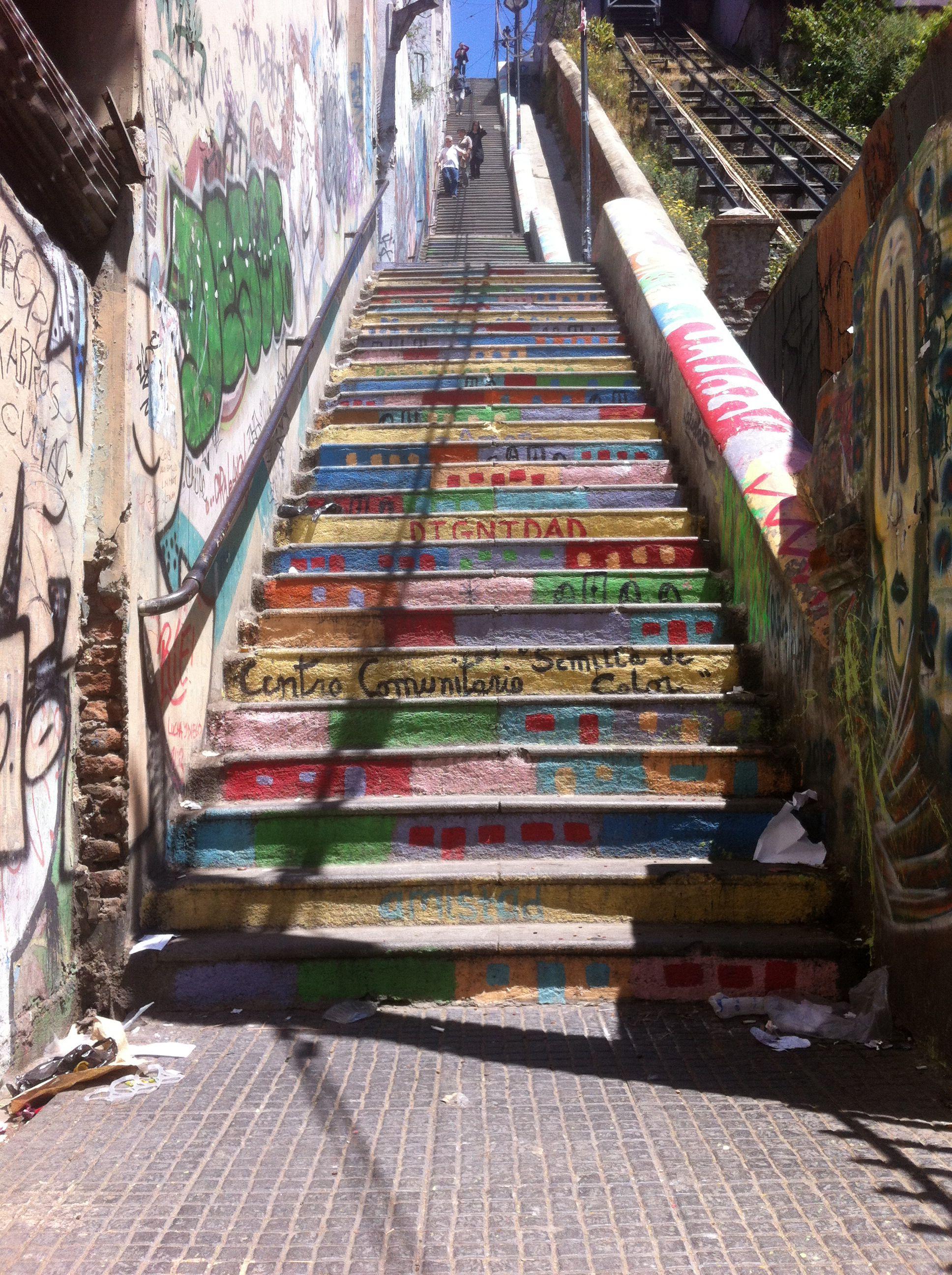 Valparaíso, Chile. Plan Escalera a paseo yugoslavo.