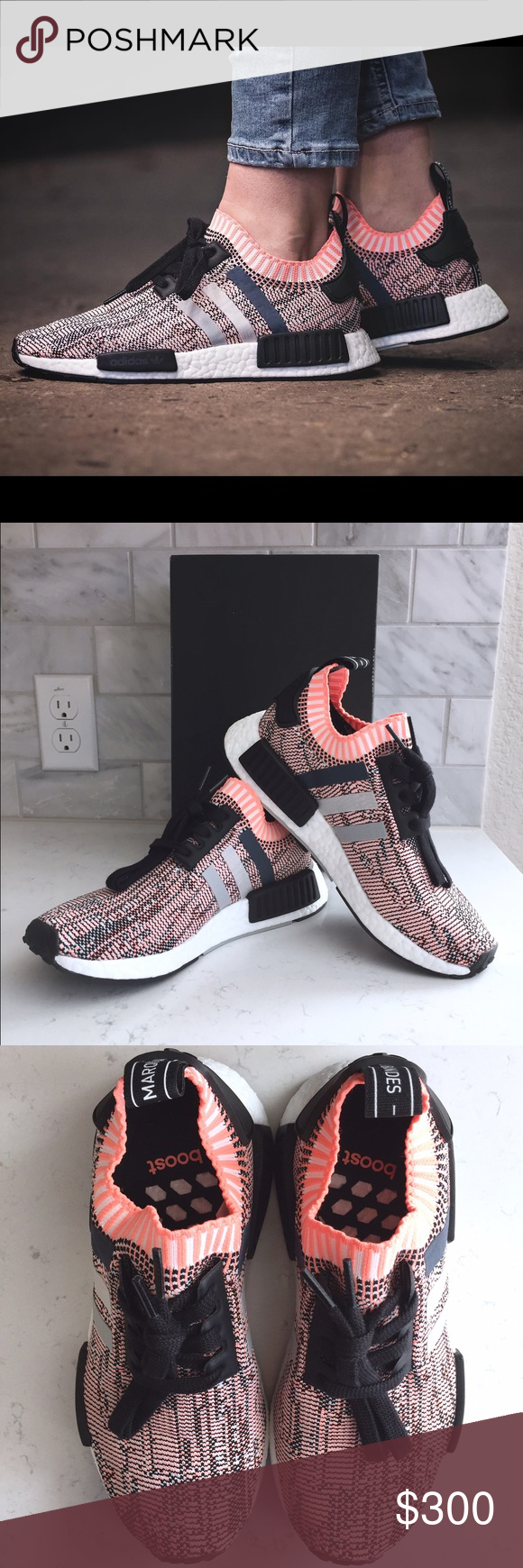 099e3e351 Adidas NMD R1 Primeknit BB2361 Sun Glow Salmon 6 Limited release  deadstock--this is