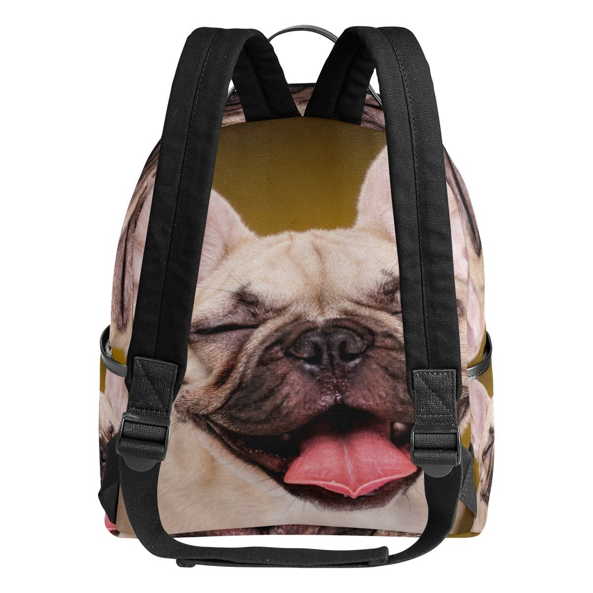 ALAZA Cute French Bulldog Puppy Dog Polyester Backpack