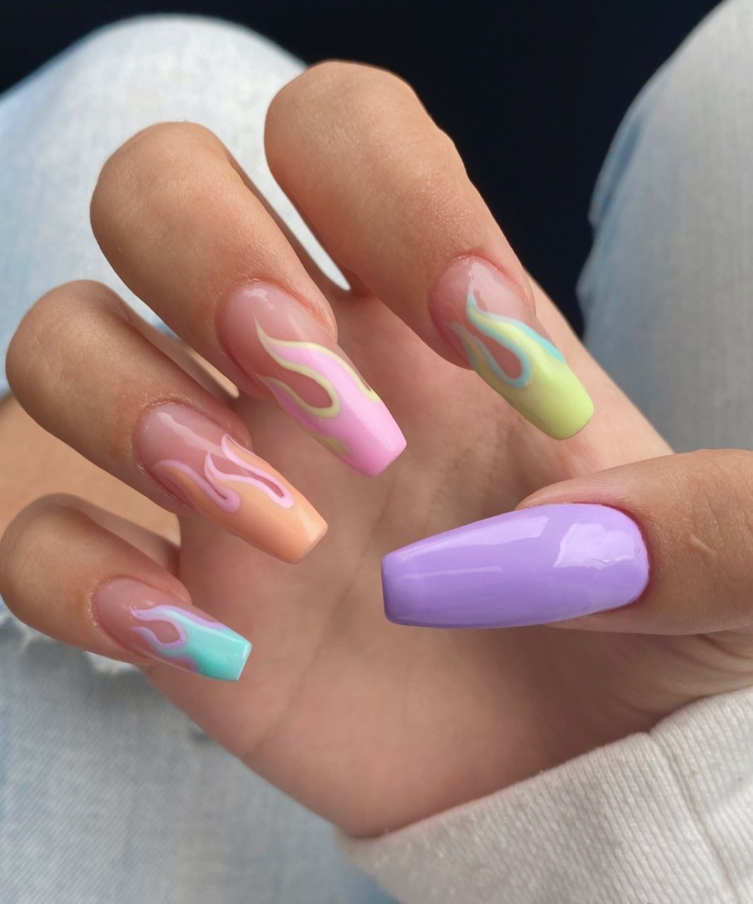 Flame Nails Are the Hottest Nail Art Trend RN
