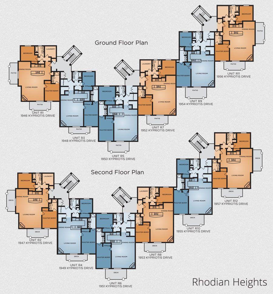 12 unit apartment building plans - Google Search | Affordable ...