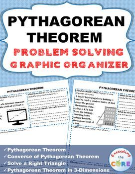Pythagorean Theorem Word Problems With Graphic Organizer My