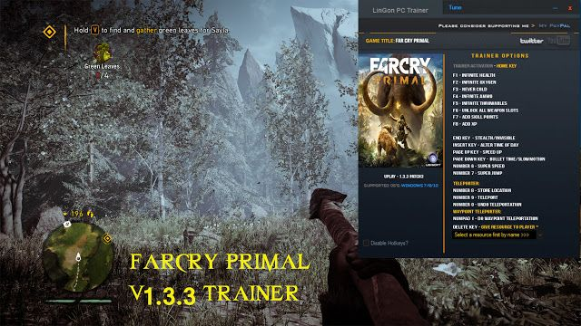 Far Cry Primal Trainer   Far Cry Primal Trainer http