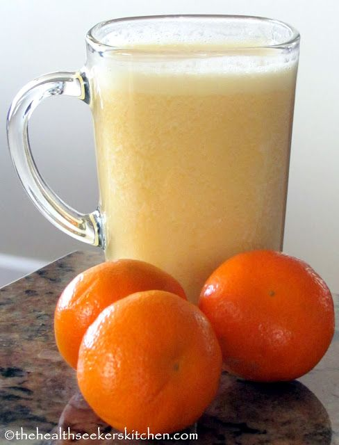 The Health Seekers Kitchen: Raw Coconut-Creamsicle Smoothie - Fight that Cold & Cough! . . .