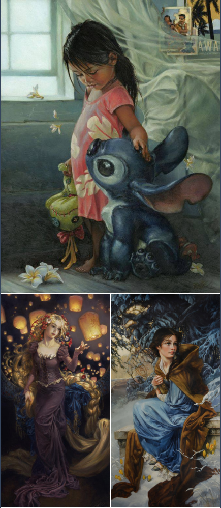 disney character oil paintings created by heather theurer disney