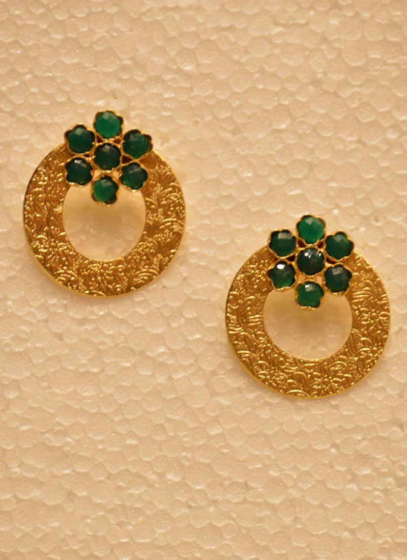 Designer Latest Round Golden Earring | Accessories | Pinterest ...