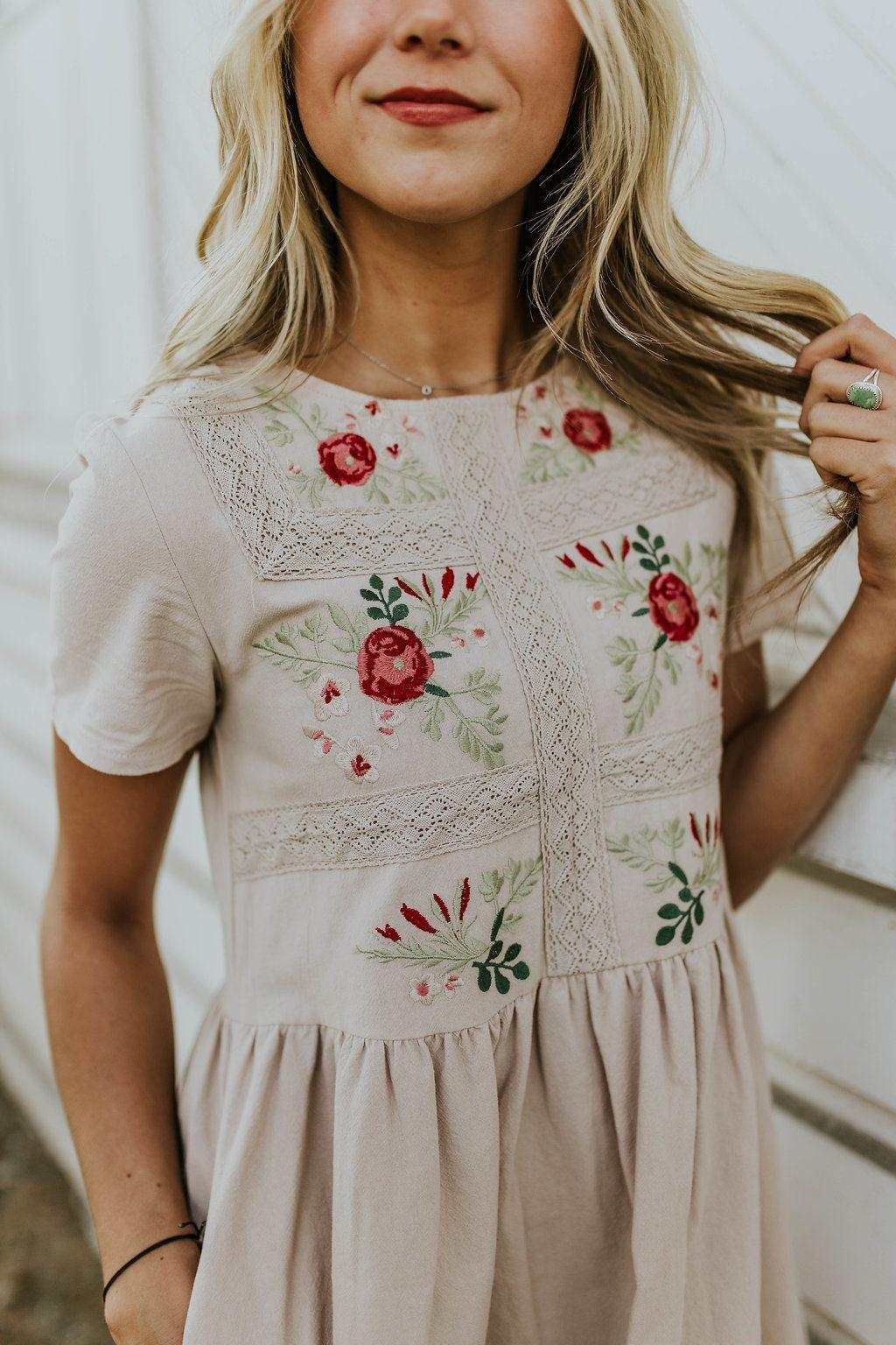 Madaline Jean Embroidered Dress
