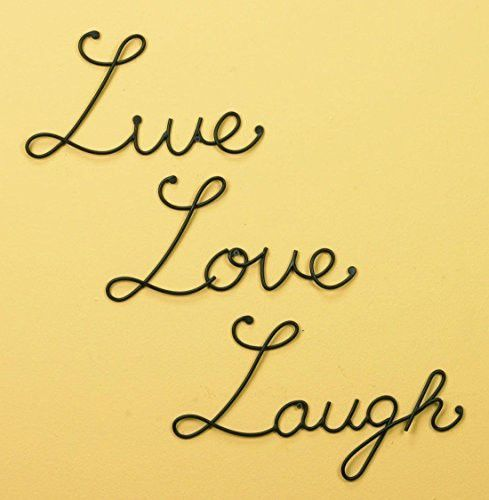 Live Love Laugh Set 3 Wall Mount Metal Wall Word Sculpture Wall ...