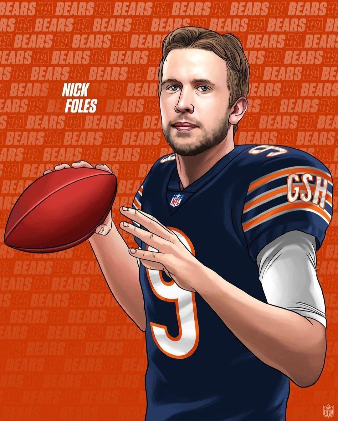 Nick Foles To Bears In 2020 Nfl Nfl Football Wallpaper Nfl Football Art