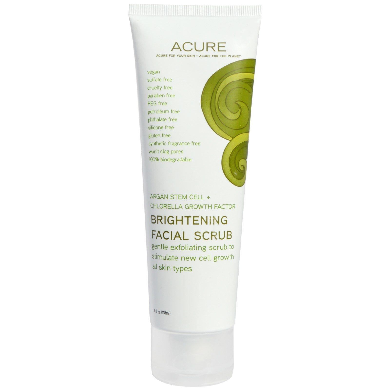 Acure Brilliantly Brightening Facial Scrub With Sea Kelp: ACURE Brilliantly Brightening Facial Scrub With Sea Kelp