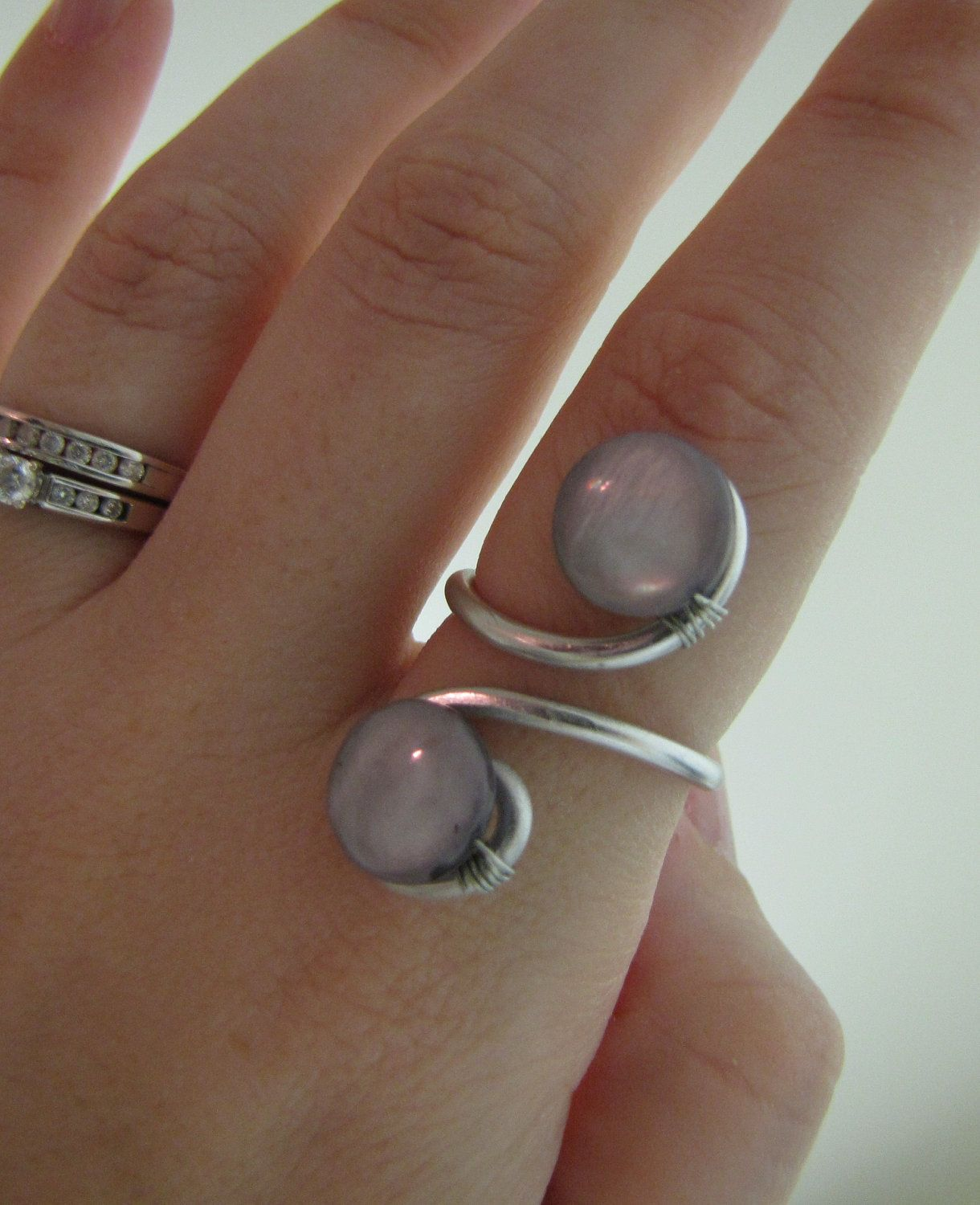 Adjustable wire ring with precious stones | Pinterest | Anhänger mit ...