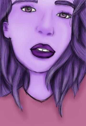 Purpple girl draw <3