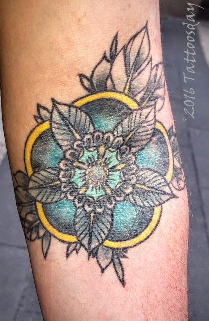 Tattoosday (A Tattoo Blog): Kevin's Flower on Water Street  http://goo.gl/wJeK0d