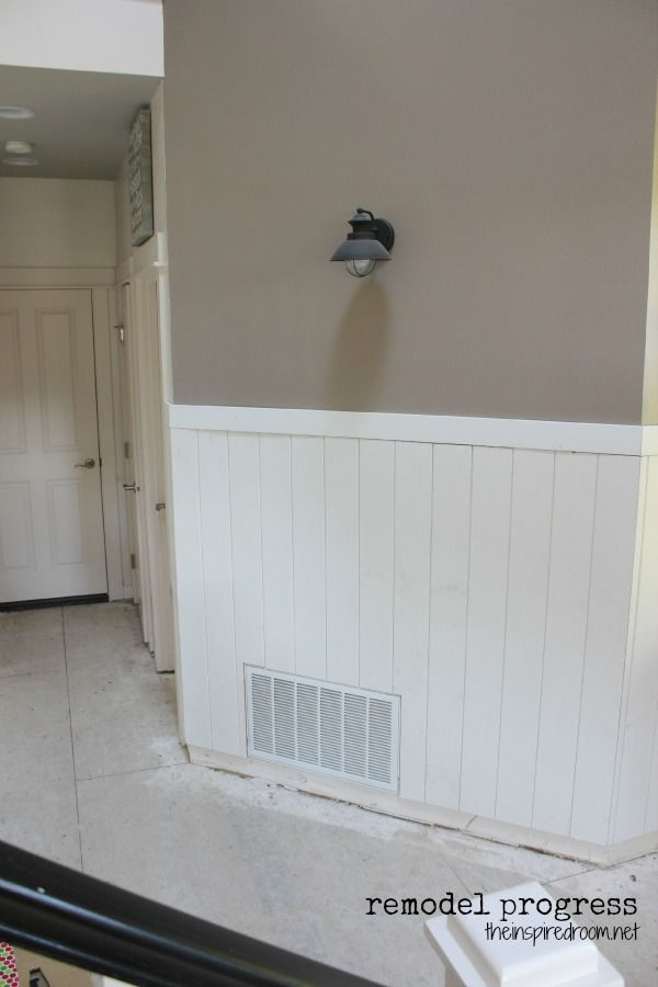 tongue and groove pine planks - now i'm actually thinking this would look  really · Paneling IdeasWood ... - Inspiration For Our Basement With Ugly Wood Paneling.. Make It