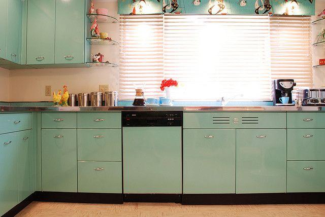 retro steel kitchen