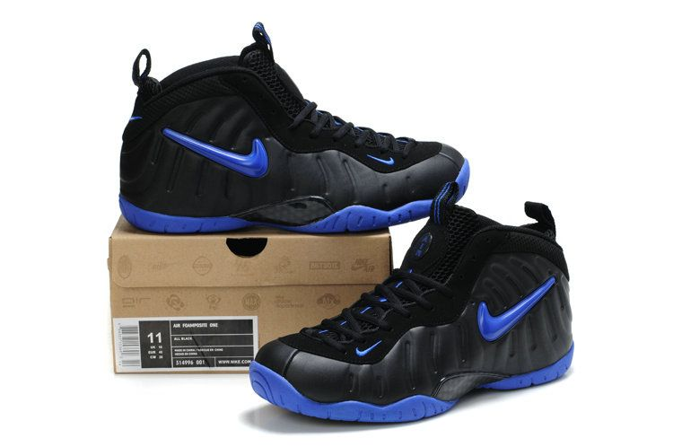 brand new 6150f f2f0c Cheap Foamposite Pro Basketball Shoes Black Blue Sapphire 314996 001