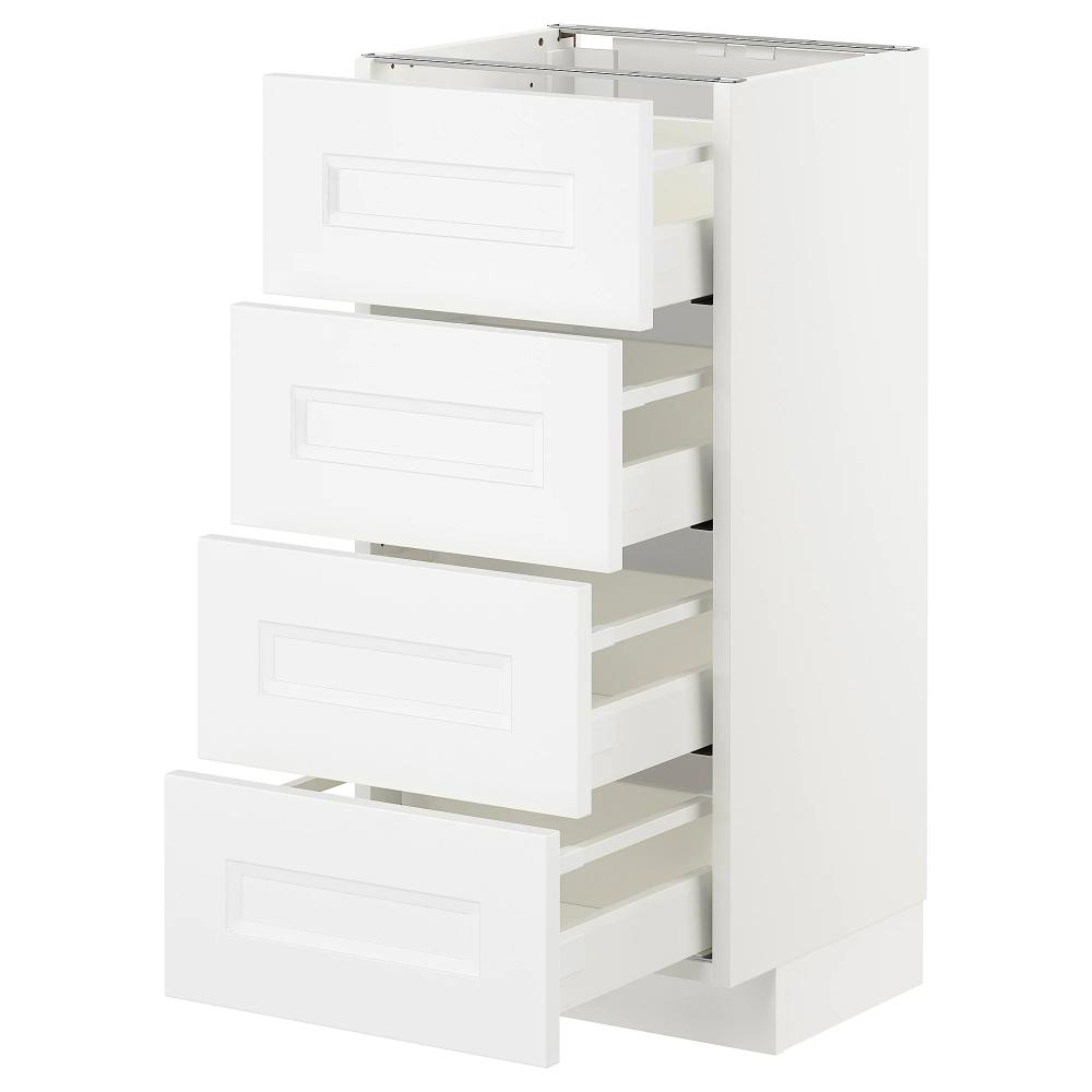 Metod Elt Bas 4 Faces 4 Tiroirs Blanc Axstad Blanc Mat 40x37 Cm Ikea En 2020 Meuble Bas Cuisine Meuble Bas Mobilier De Salon