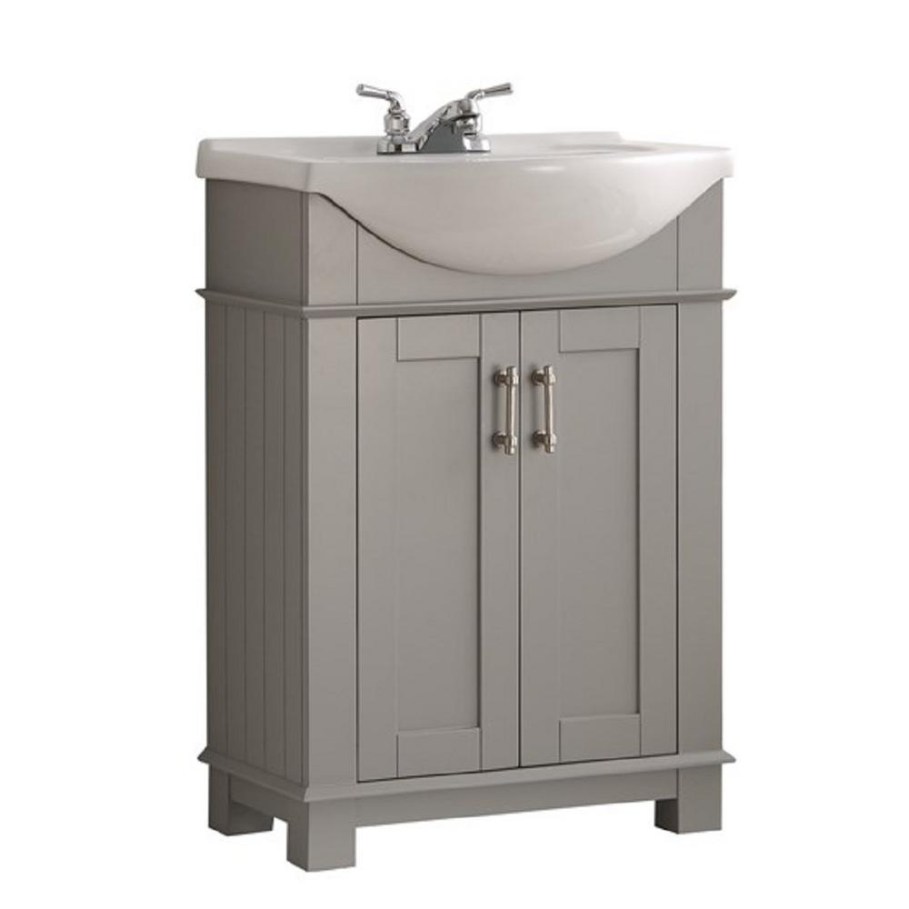 Fresca Hudson 24 In W Traditional Bathroom Vanity In Gray With