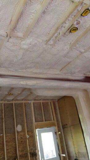pinforever foam insulation on garage ceiling spray foam