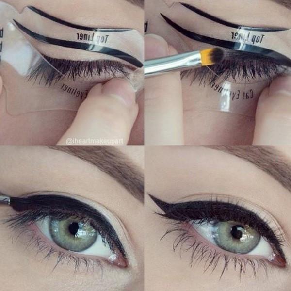 Stunning Beautiful Eyeliner Fashion Template Eyeliner Card Eyeliner Stencil Eye Makeup Set Makeup Brushes LANBENA Tools Eye Liner 2 style 10 PCS