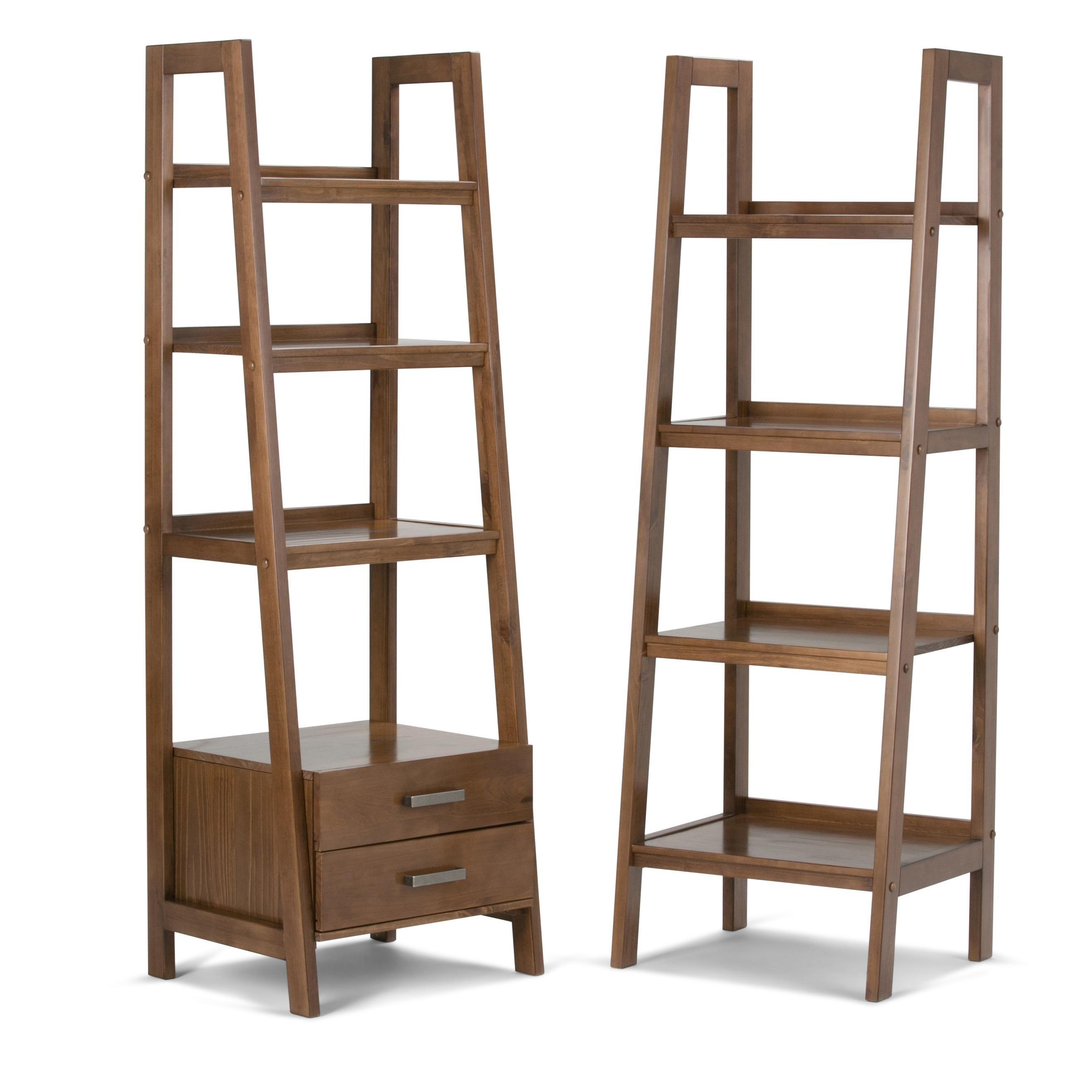 online store a3fe5 f2a7a Amazon.com: Simpli Home Sawhorse Solid Wood Ladder Shelf ...