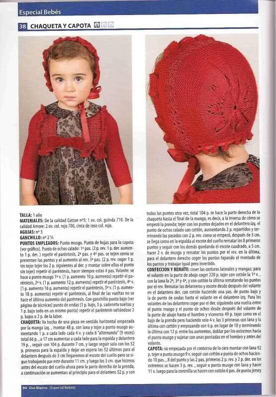 Patron capota bebé punto - Imagui | bebes lana | Pinterest | Baby ...