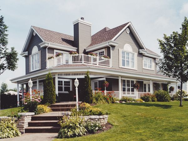 Lockport Waterfront Home Country Style House Plans Porch House Plans Victorian House Plans