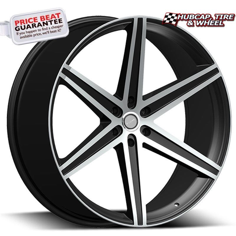 Elure 044 6 Black W Machined Face 26 X10 Custom Wheels Rims Set