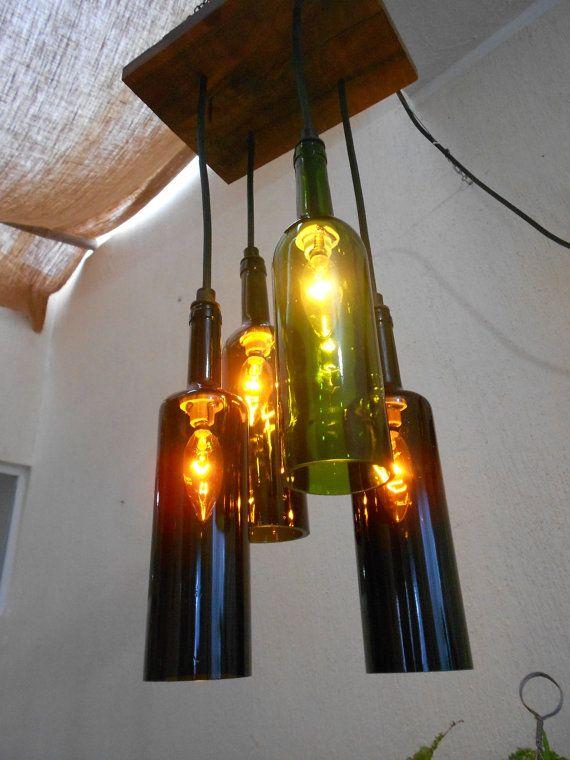 de madera botellas de vino base de zapote 4 de y candelabro wX80NkOPn