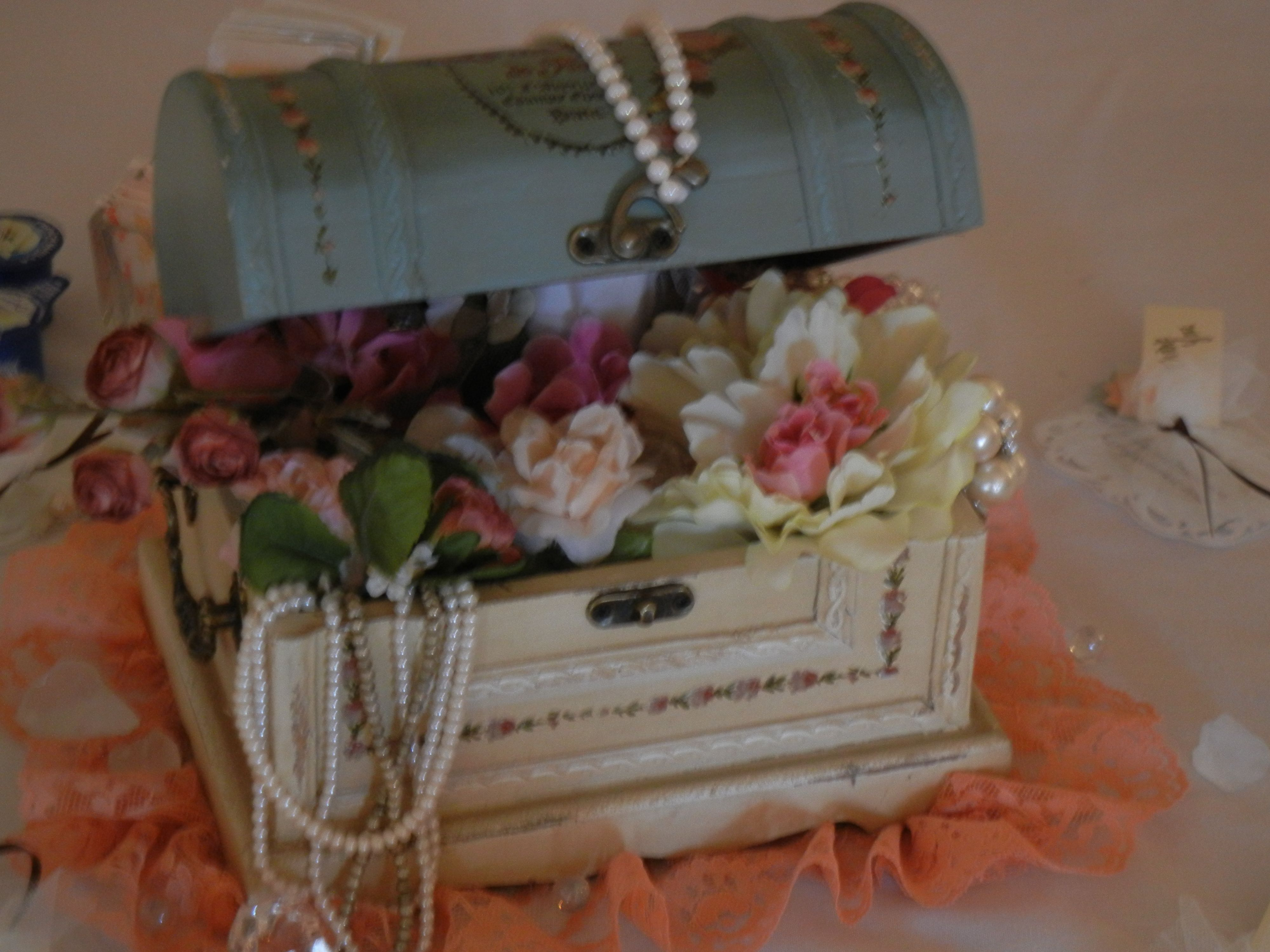 Incredible Treasure Chest Pearls Flowers Treasure Chest Home Interior And Landscaping Ologienasavecom