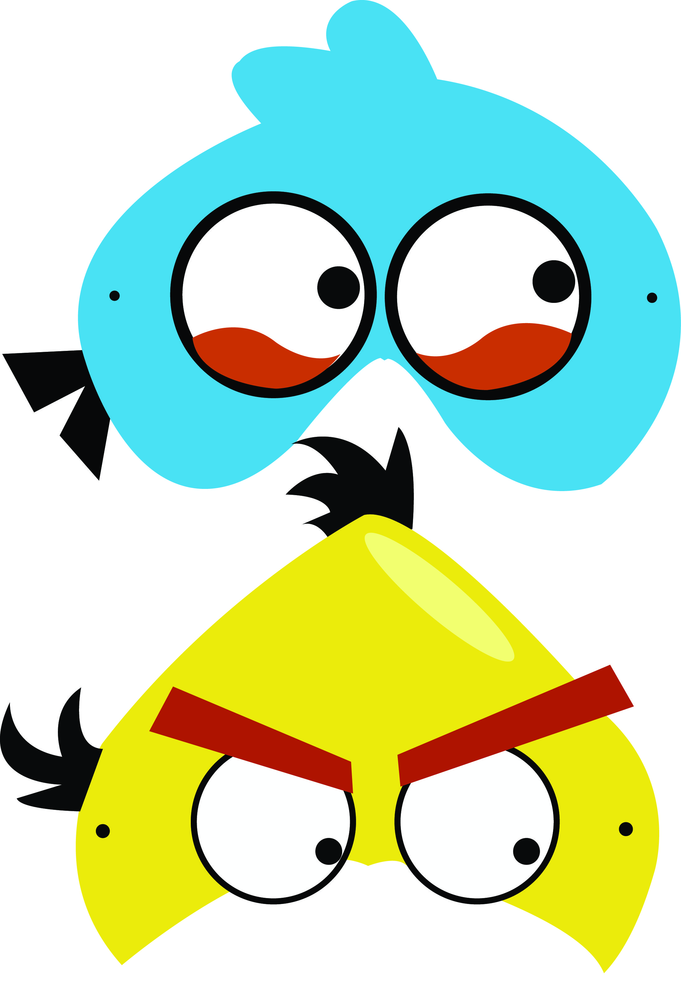 Angry birds free printable masks | Angry Birds | Pinterest ...