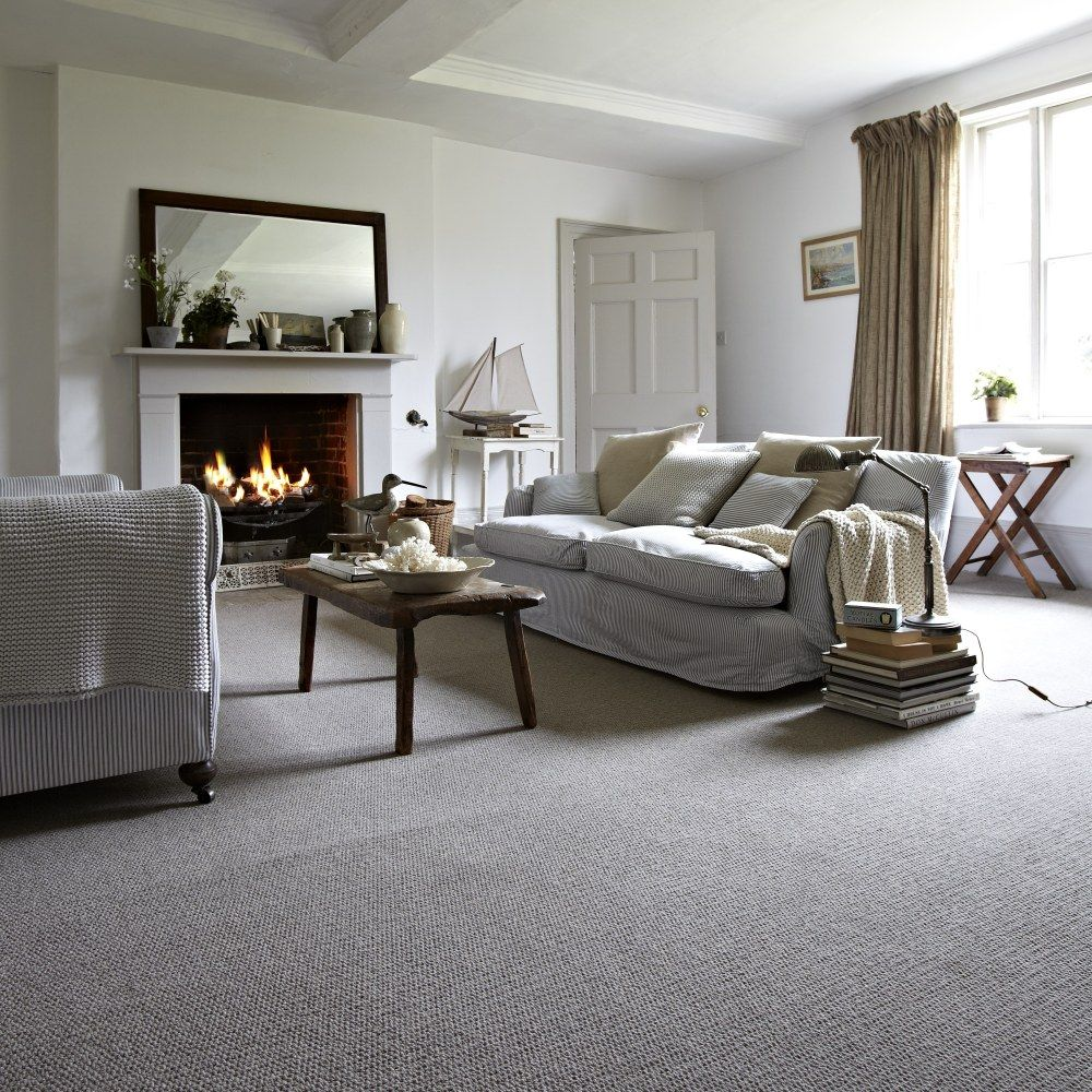Keep Warm In A Welcoming Rustic Lounge With A Comforting Fireplace Cosy Interior Design Grey Carpet Living Room Grey Carpet Bedroom Gray Rug Living Room