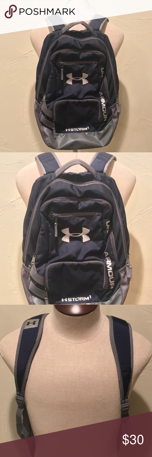 Under Armour Storm1 Heat Gear Backpack Navy Blue Under Armour UA Storm1  Heat Gear Backpack Navy Midnight Blue Under Armour Bags Backpacks 7481eb6efb