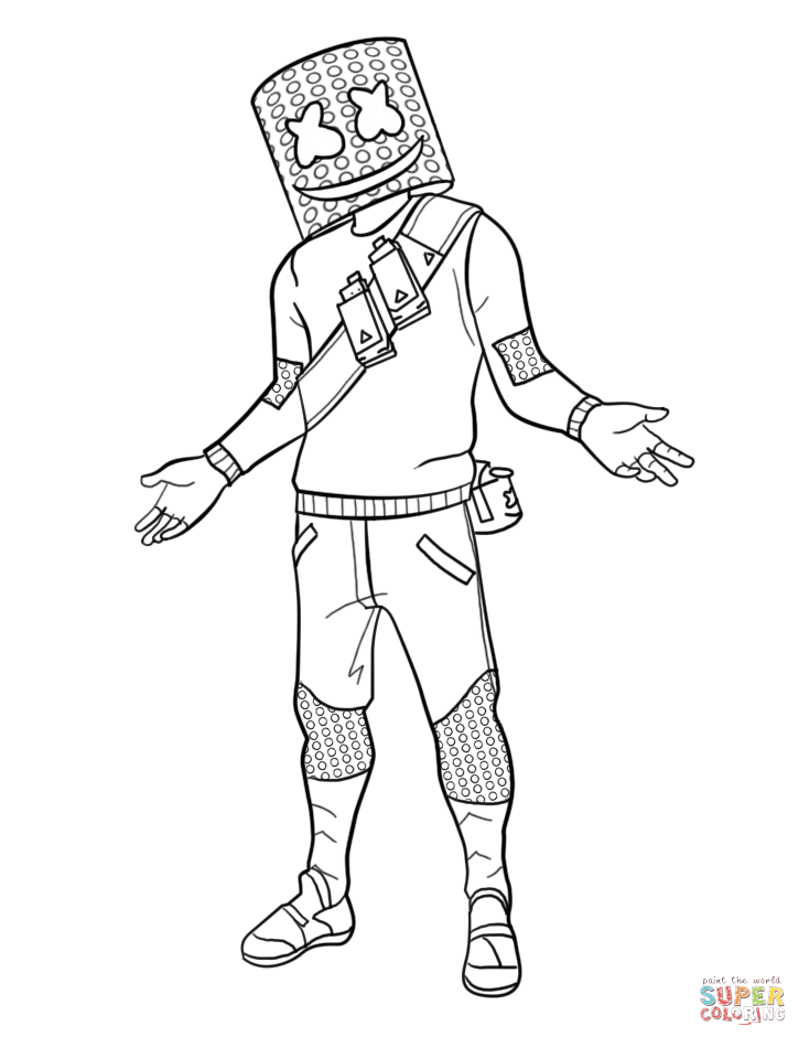 Download Or Print This Amazing Coloring Page Marshmello From Fortnite Coloring Pages Printa In 2020 Cool Coloring Pages Cartoon Coloring Pages Avengers Coloring Pages