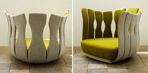 fauteuil organique tsubomi | blog et design - Meuble Design Japonais