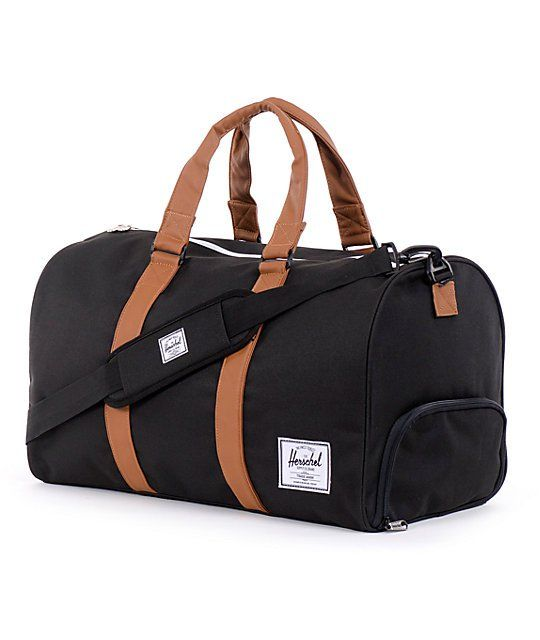 Herschel Supply Co. The Novel duffle bag in black by Herschel is the  perfect duffle bag for an extended vacation out of town, a weekend at your  friends or ... 31133e1185