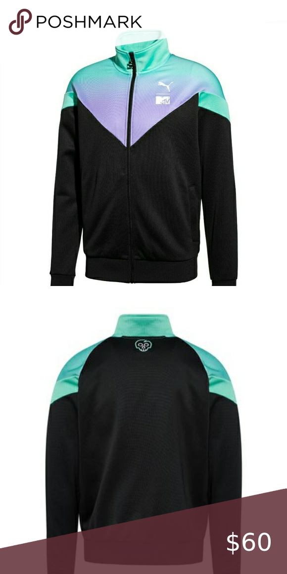 pantalones Reclamación marrón  Puma track jacket. Puma x MTV MCS Track jacket. NWT. Men's size large. MSRP  $80.00. 59% Polyester ,41% cotton. Black/purple/… in 2020 | Puma jackets,  Jackets, Track jackets