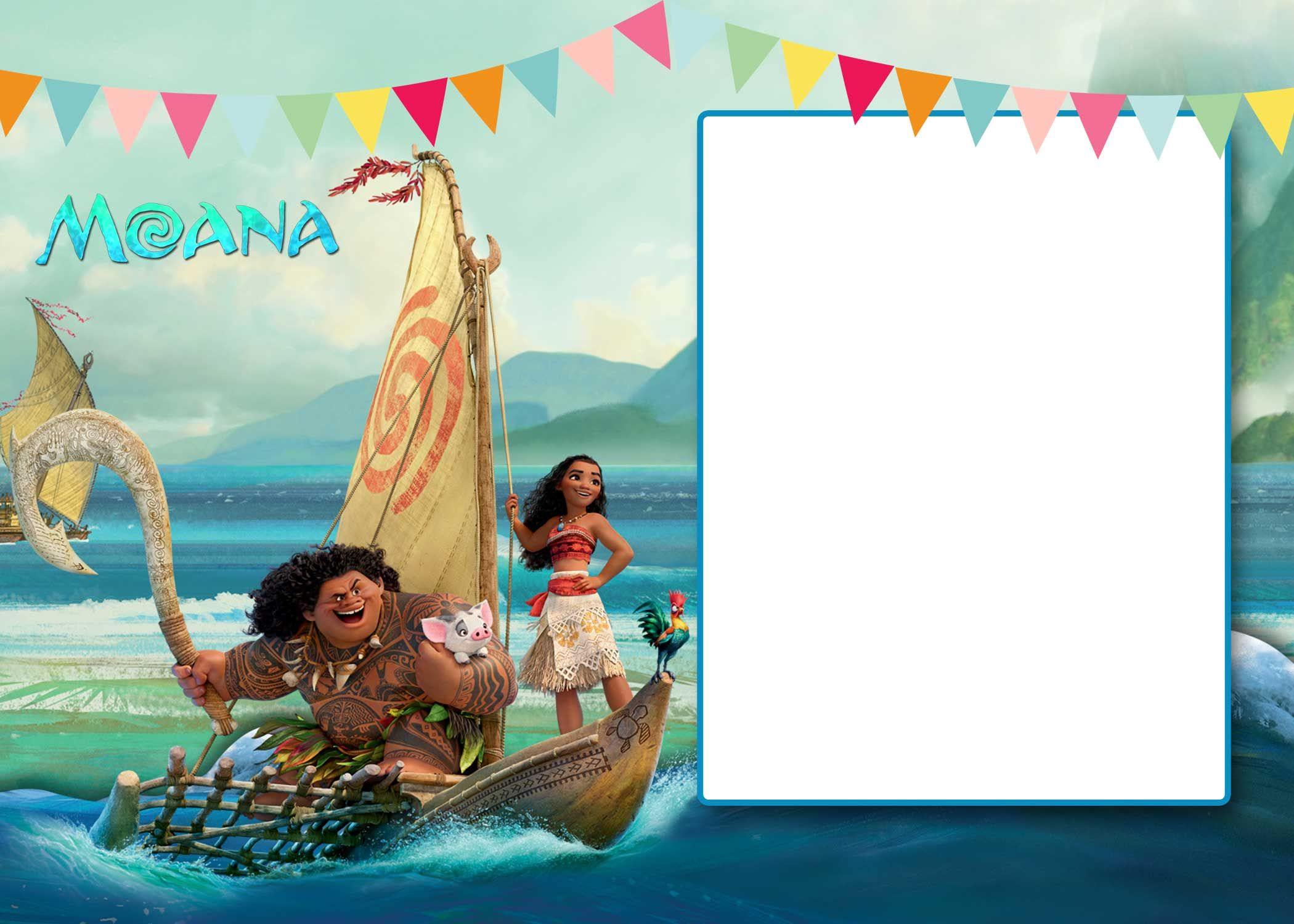 image about Moana Printable Invitations titled Cost-free Free of charge Printable Moana 1st Invitation Template Bagvania