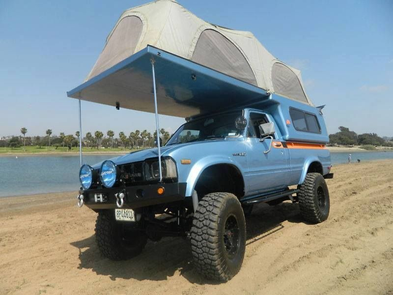 Vehicle Pop Up Tents : Toyota truck with camper rv and pinterest