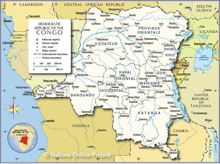 cool Congo Dem Rep of the Map Travelquaz Pinterest Congo