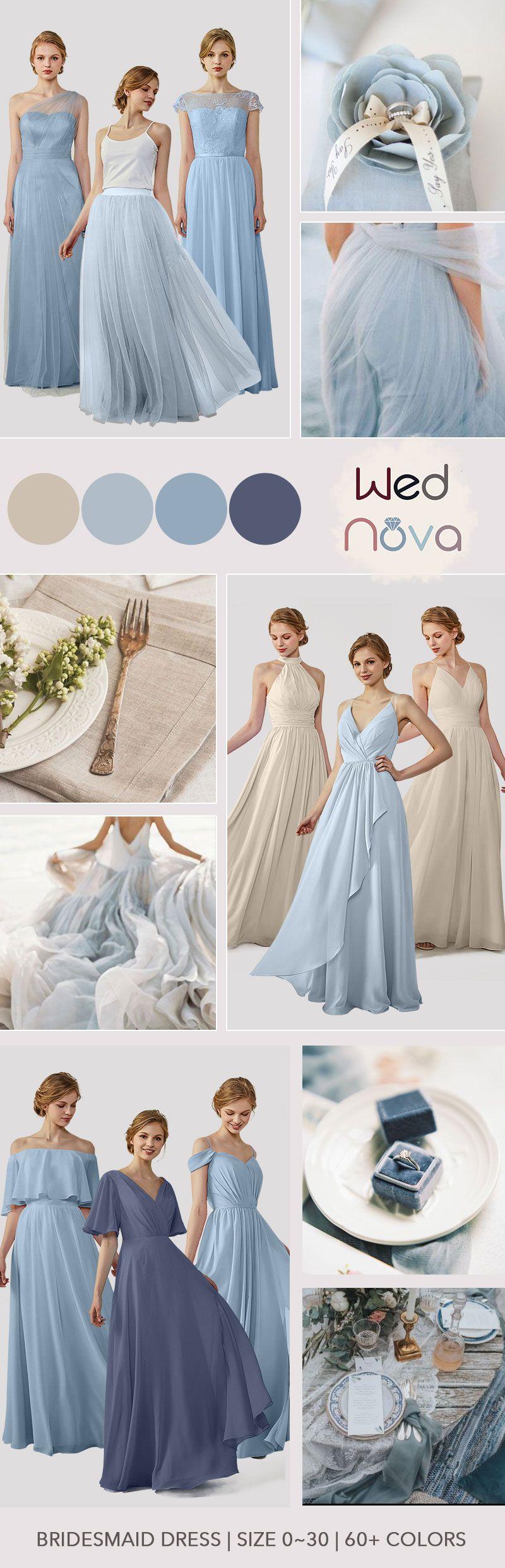 Boho wedding dress gray u dusty blue beautiful dress for wedding