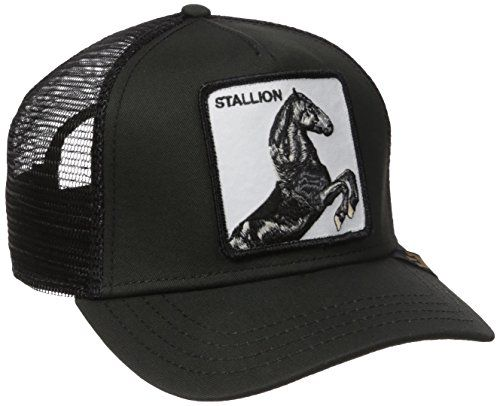 b93e4d26 Goorin Bros. Men's Stallion Trucker, Black, One Size Goor ...